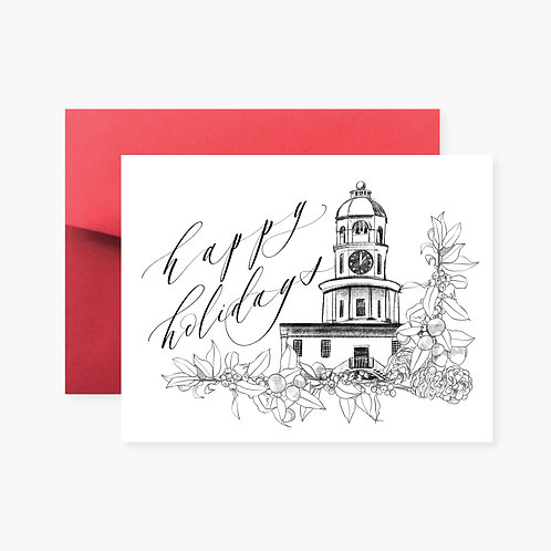 Halifax Clock Tower Holiday Greeting Card