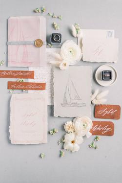 Sailing Inspired Wedding Invitations