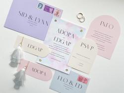 Modern Pastel Wedding Invitation