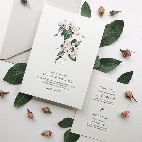 Vintage Apple Blossom Wedding Invitation Suite