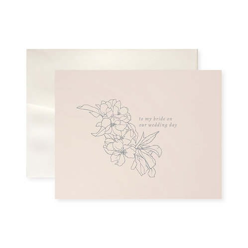 To My Bride Blossom Greeting Card