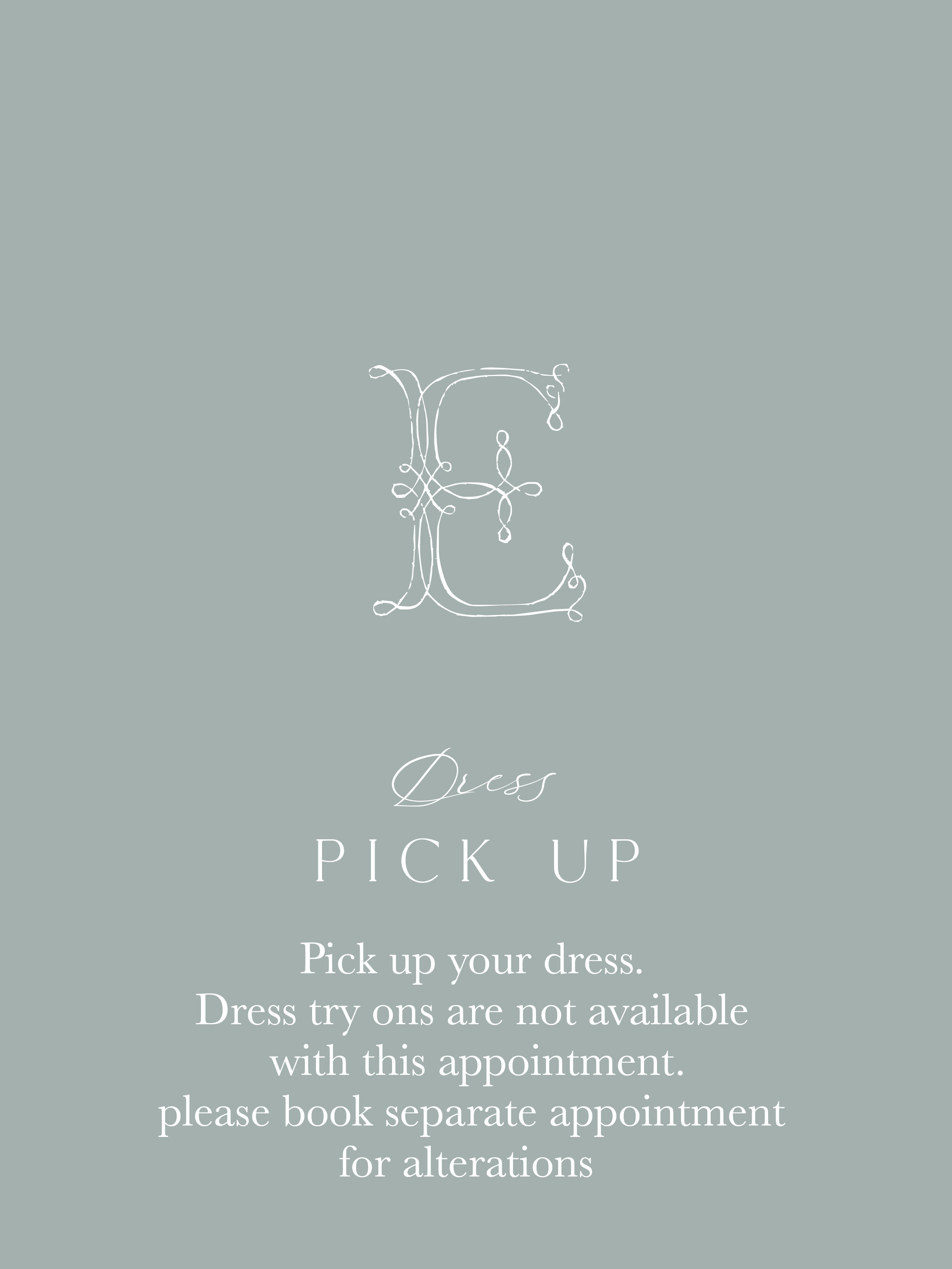 Dress Pick Up