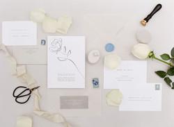 Modern Floral Wedding Invitation