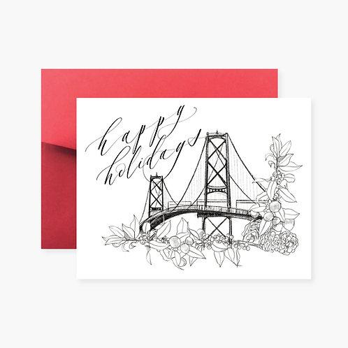 Macdonald Bridge Holiday Greeting Card