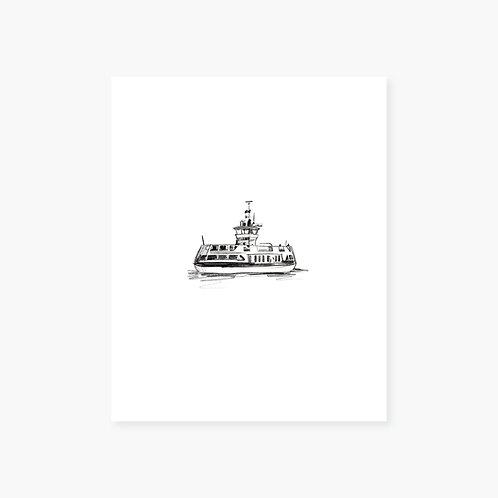 Halifax Harbour Ferry Art Print