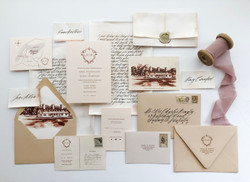 Old World Inspired Wedding Invitations
