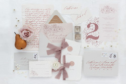 Blush Pink and Dusty Rose Wedding Invitations