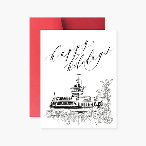 Halifax Ferry Holiday Greeting Card