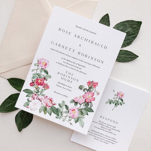 Wild Rose Wedding Invitation Suite