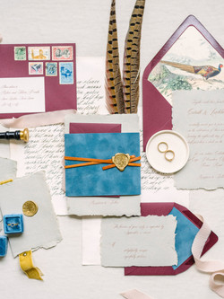 English Inspired Wedding Invitations