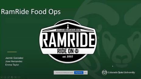 RamRide Food Ops