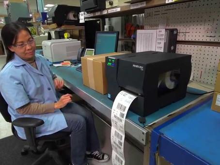 Printronix T2n barcode label printer