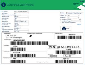 Automotive supplier label