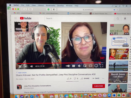 Sharon Kitroser, Nonprofit Consultant chats about Nonprofits and Fundraising with Joey Pinz