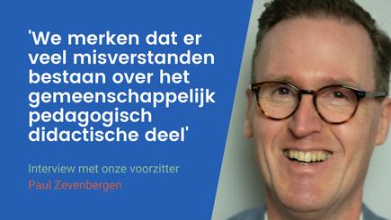 Interview met onze voorzitter Paul Zevenbergen