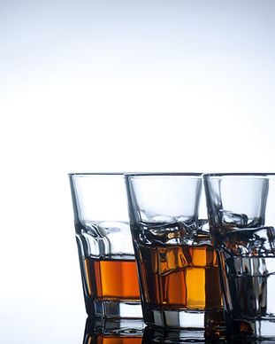 Variety of drinks on white background.jp