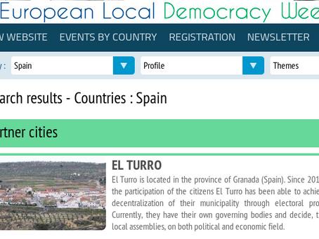 El Turro participa en la Semana Europea de la Democracia Local