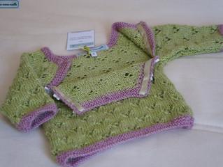 Layette tricotée main:belle mais pratique avant tout!
