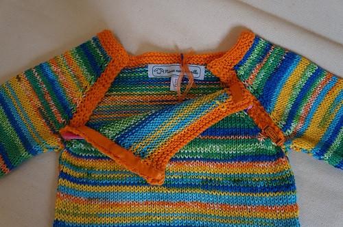 layette tricotée main avec fermeture rapide