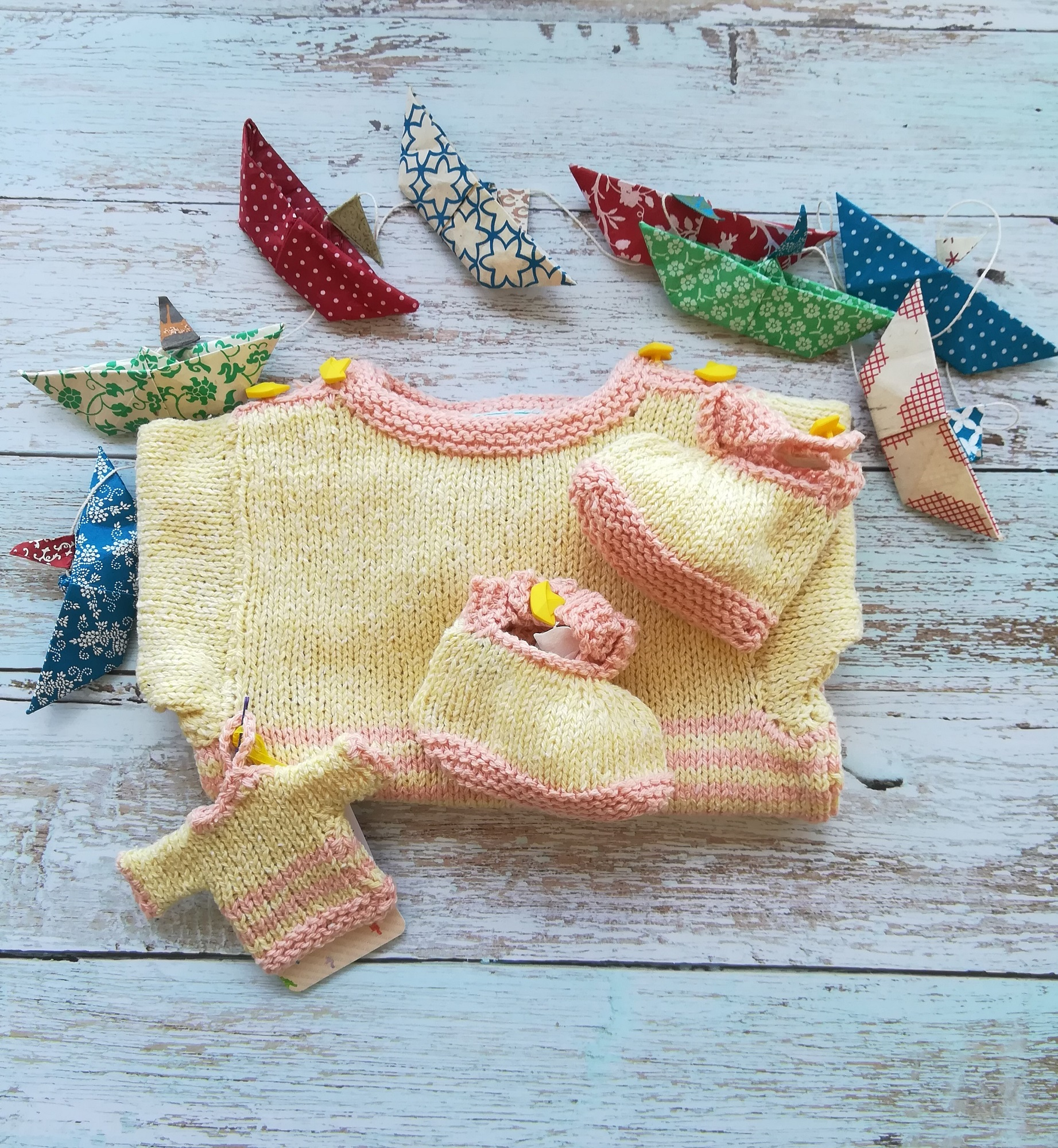 layette_tricotée_main_ensemble_marin_mix