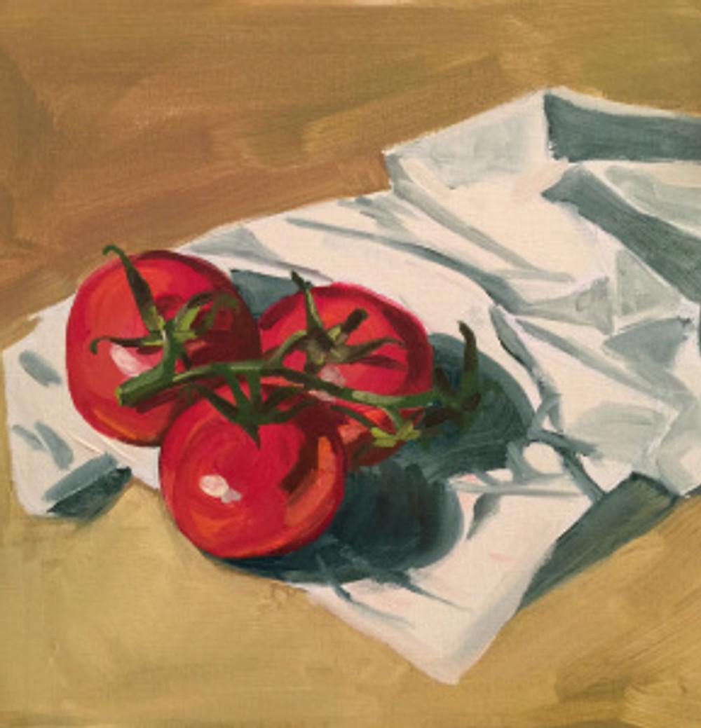 23/09/2015 - Tomates 30 x 30 cm huile sur toile
