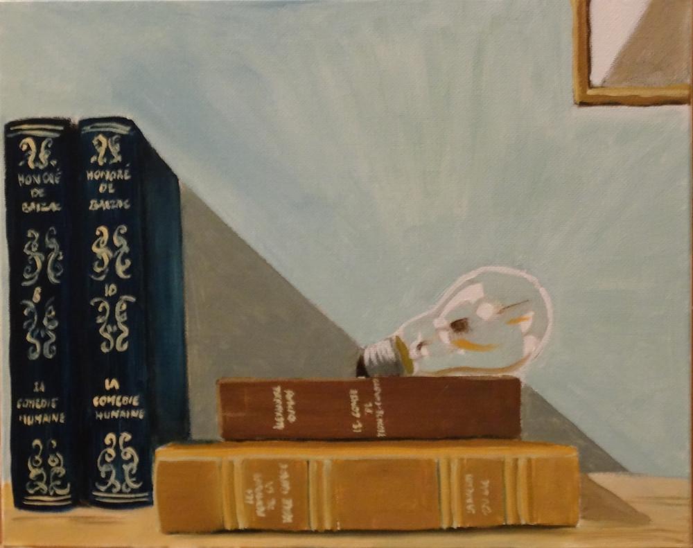 27/08/2014 : La Lecture - Huile sur toile 30 x 24 cm