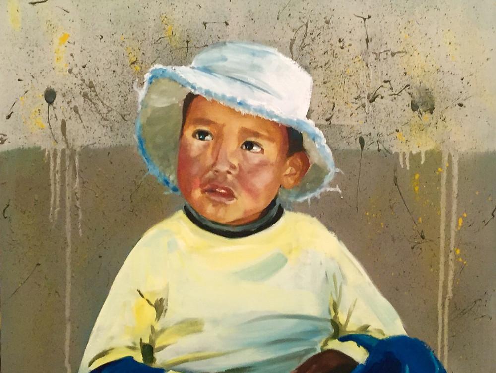 25/10/2015 : Portrait d'enfant - 40 x 50 cm