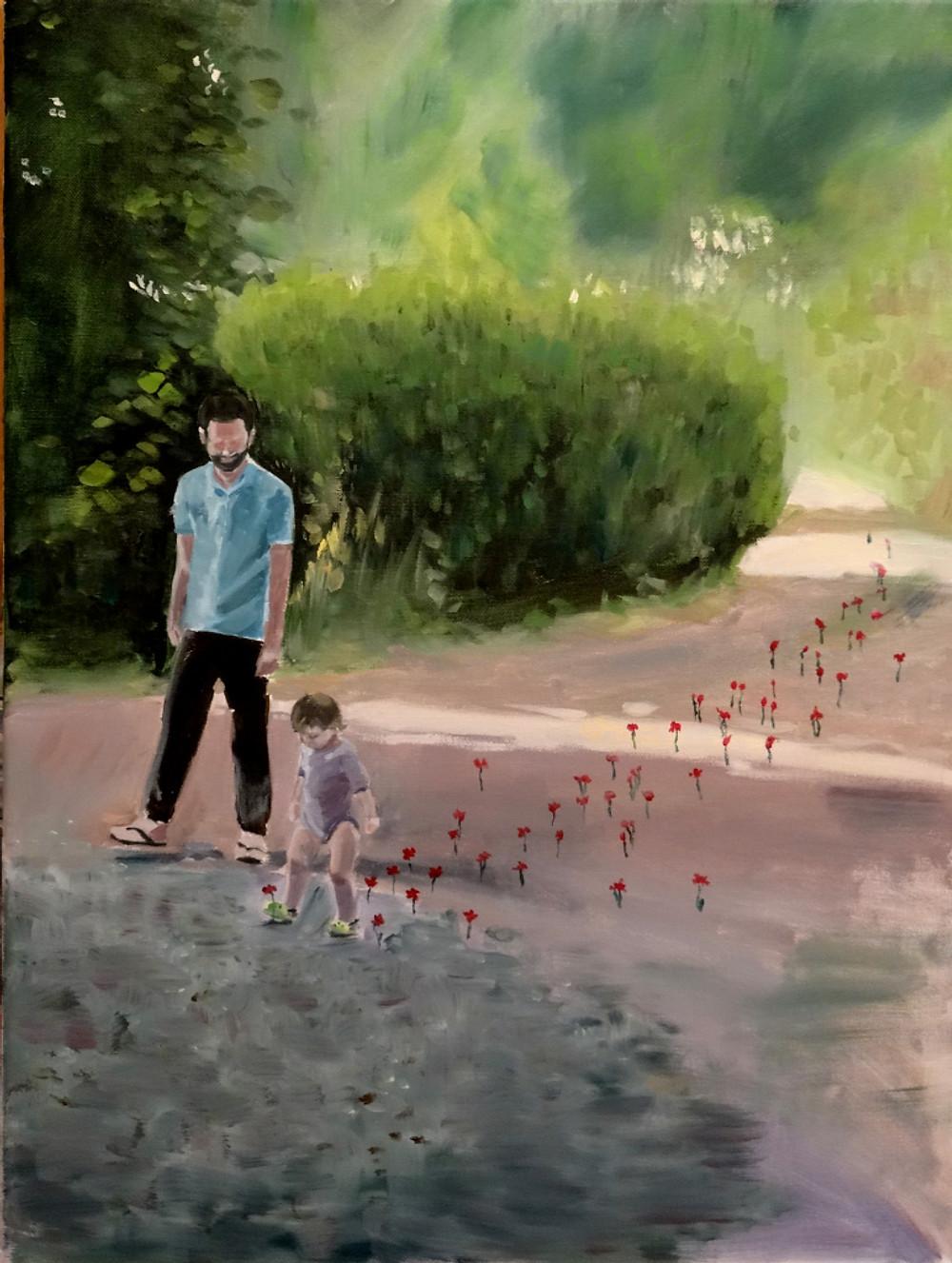 14/06/2015 La Fée - Huile sur toile 60 x 45 cm