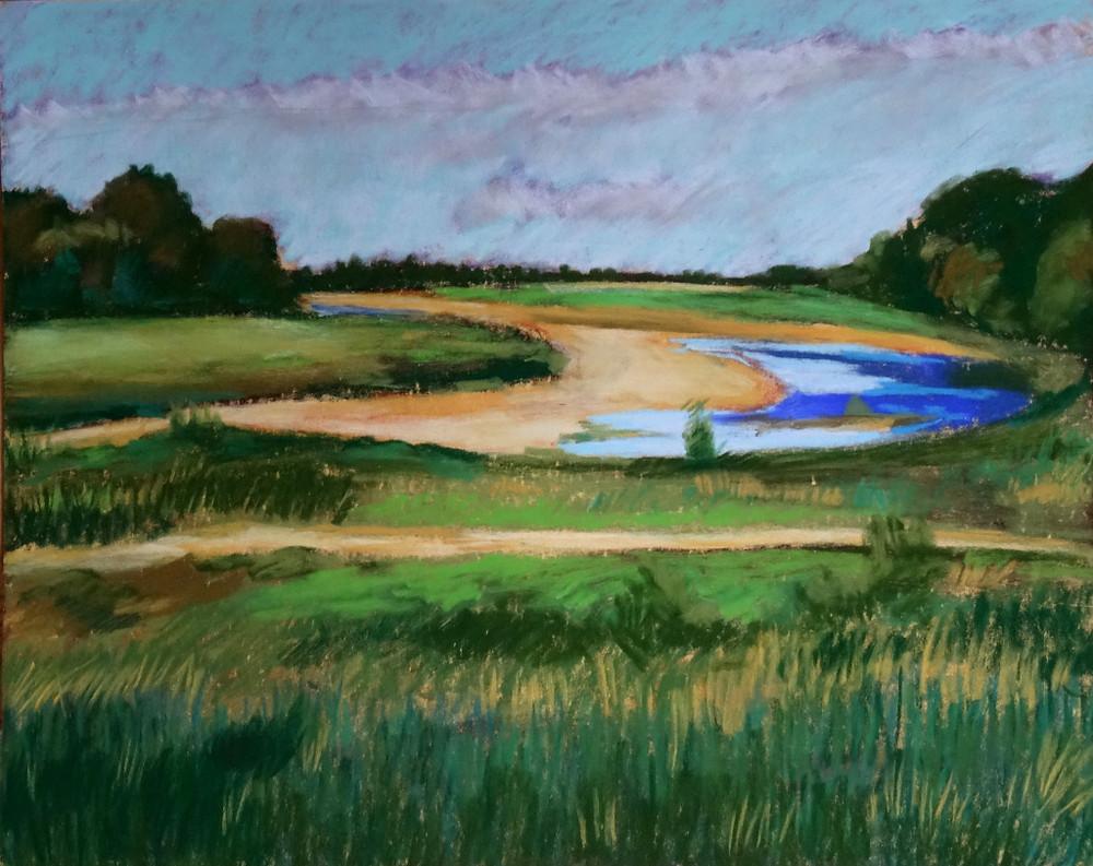 20/07/2015 : La Loire - Pastel 21 x 30 cm