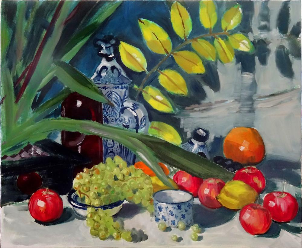 15/09/2014 : Salade de Fruits - Huile sur toile 46 x 38 cm