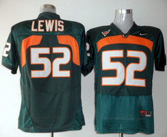 Miami Hurricanes Ray Lewis 52 Green NCAA Replica Football Jersey.jpg