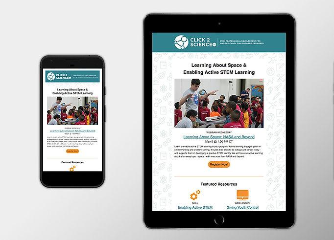 Nebraska 4-H email newsletter mobile view