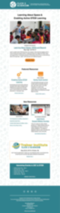 Click2Science email newsletter template