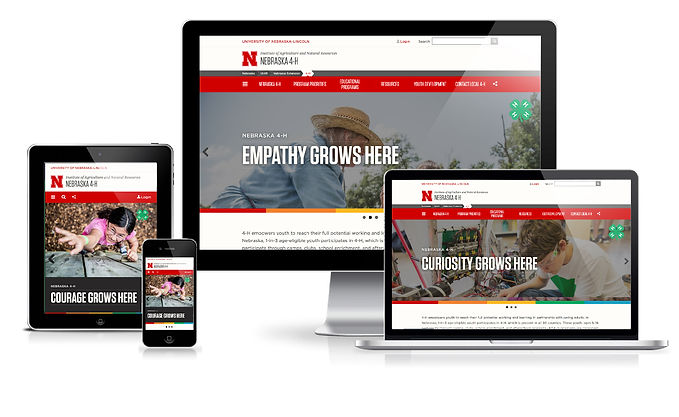 Nebraska 4-H website redesign responsiveness