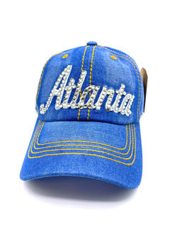 Blue denim jean hat