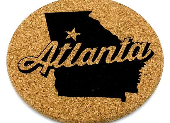 Atlanta coaster natural made in USA