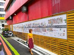 Artwork in a back lane  Year 2018