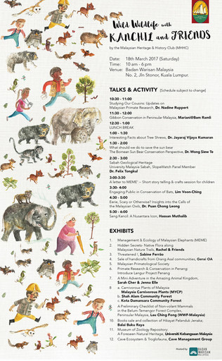 Poster for MHHC Wild Wildlife event.  Year 2017
