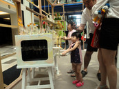 Kid playing in exhibition  Year 2013