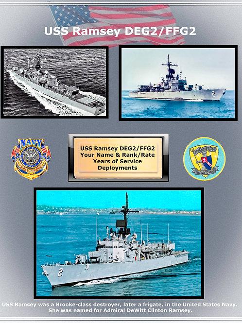 USS Ramsey FFG 2