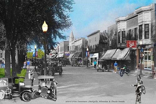 """Libertyville, Milwaukee Ave, """"DeVille"""" Print #72"""