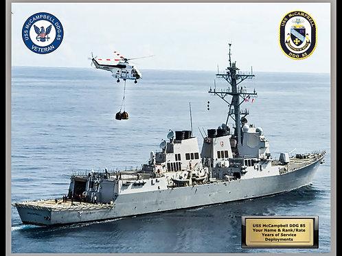 USS McCampbell DDG 85