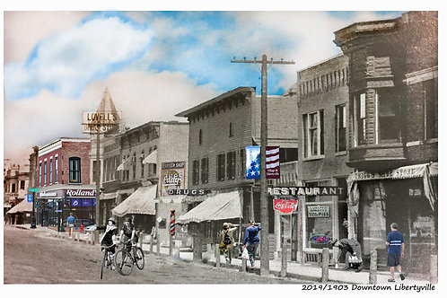 "Libertyville, Downtown, ""Rollands"" Print #65"