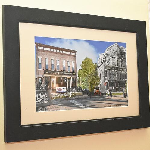 """Glenview, """"Glenview House"""" Framed Print - Black Frame"""