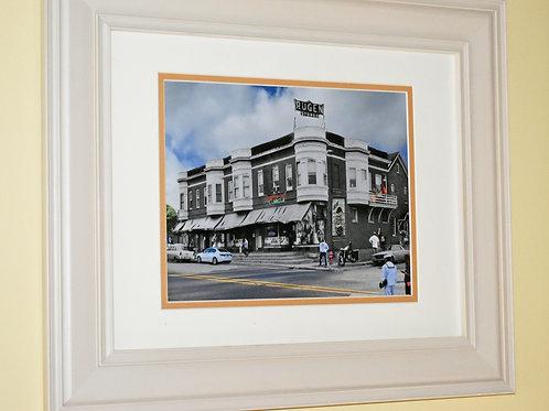 """Glenview, """"Rugen's"""" Framed Print - Creme Frame"""