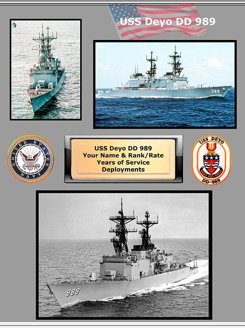 USS Deyo DD 989