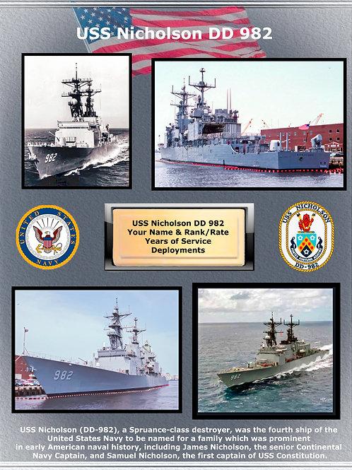 USS Nicholson DD 982
