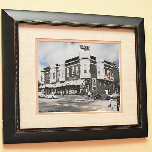 """Glenview, """"Rugen's"""" Framed Print - Black Frame"""