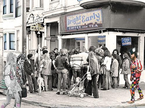 Haight Asbury, 1967 with George, digital image