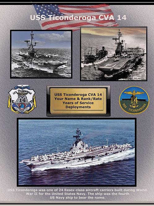 USS Ticonderoga CVA 14